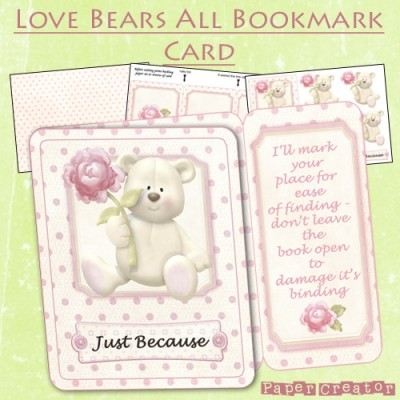 Love Bears All - Bookmark Card Kit