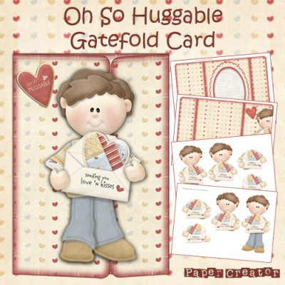 Oh So Huggable - Gatefold Card Kit