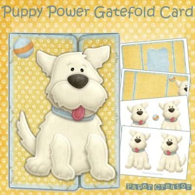 Puppy Power - Gatefold Card Kit