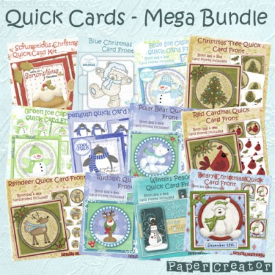 Christmas Quick Cards - Mega Bundle