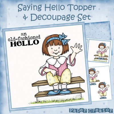 Saying Hello - Topper & Decoupage Set