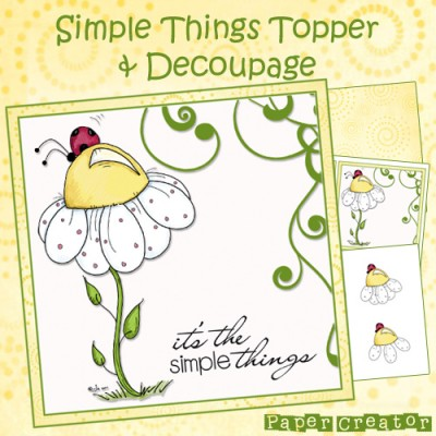 Simple Things - Topper & Decoupage Set