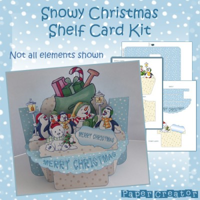 Snowy Christmas - Shelf Card Kit