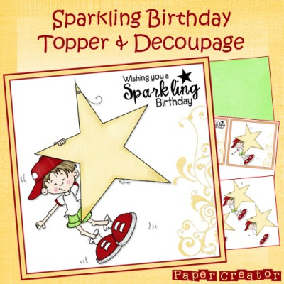 Sparkling Birthday - Topper & Decoupage Set