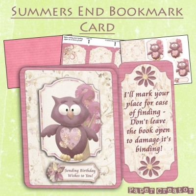 Summers End - Bookmark Card Kit