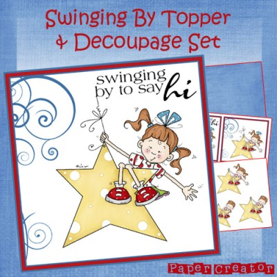 Swinging By - Topper & Decoupage Set