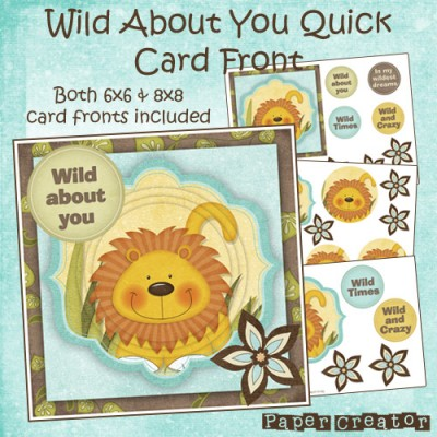 Wild About You - Quick Card Front Set