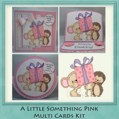 A Little Something Pink Multi Cards Kit