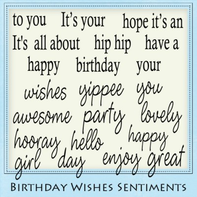 Birthday Wishes Sentiment Pack