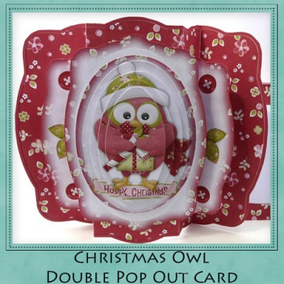 Christmas Owl Double Pop Out Card Kit