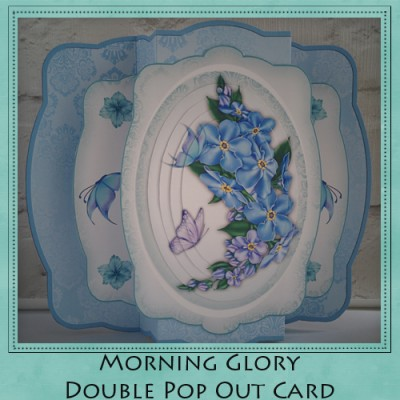 Morning Glory Double Pop Out Card Kit