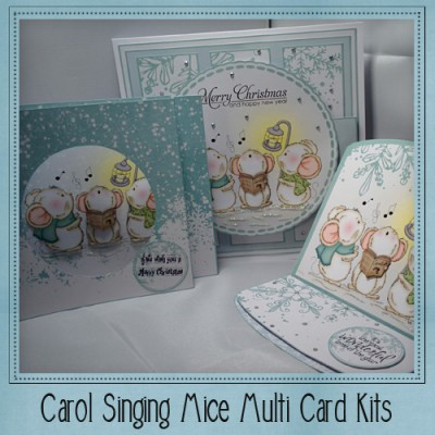 Carol Singing Mice Multi Card Kit