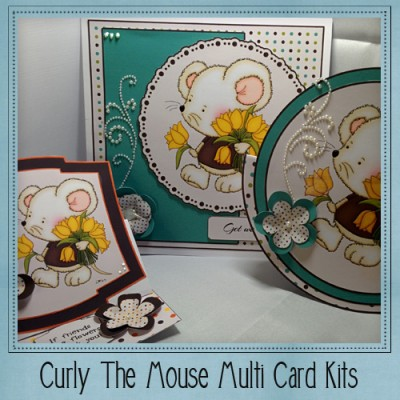 Curly The Mouse Multi Card Kit