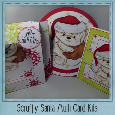 Scruffy Santa Multi Card Kit