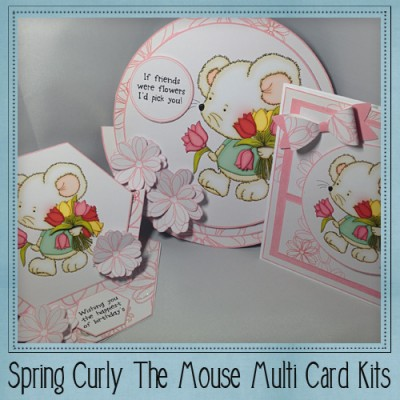 Spring Curly The Mouse Multi Card Kit