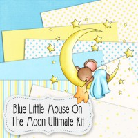Blue Little Mouse On The Moon Ultimate Kit