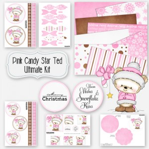 Pink Candy Star Ted Ultimate Kit