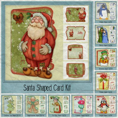 Christmas Shaped Cards Mega Bundle