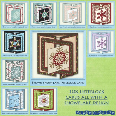 Snowflake Interlock Cards Mega Bundle