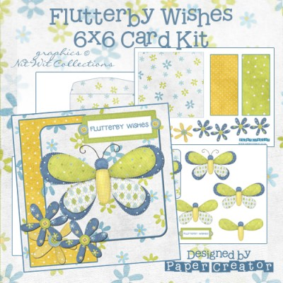 Flutterby Wishes - 6x6 Card Kit