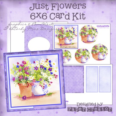 Just Flowers - 6x6 Card Kit