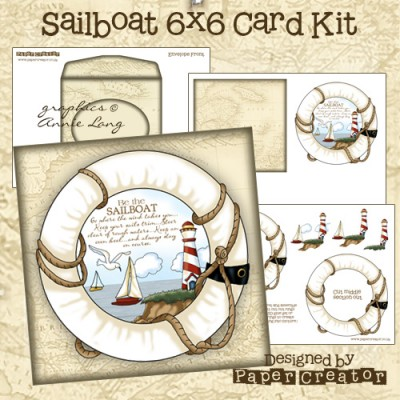 Sailboat - 6x6 Card Kit