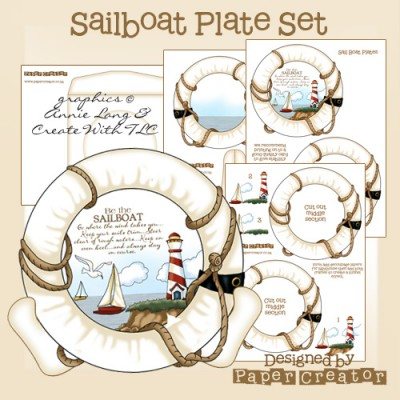 Sailboat - Plate Set