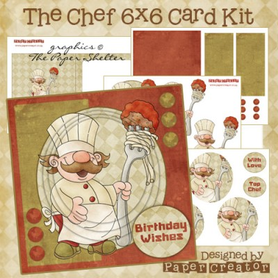 The Chef - 6x6 Card Kit
