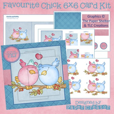 Favourite Chick - 6x6 Card Kit