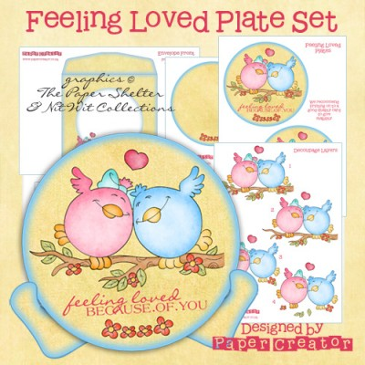 Feeling Loved - Plate Set