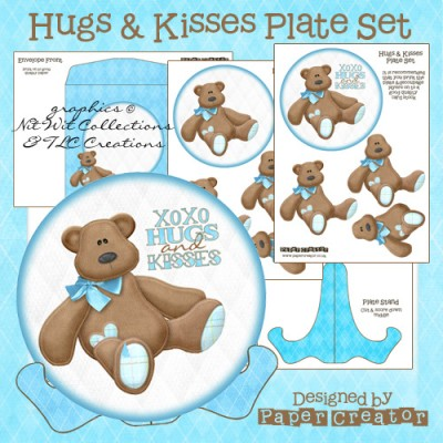 Hugs & Kisses - Plate Set