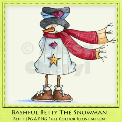 Bashful Betty The Snowman