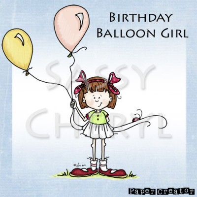 Birthday Balloon Girl