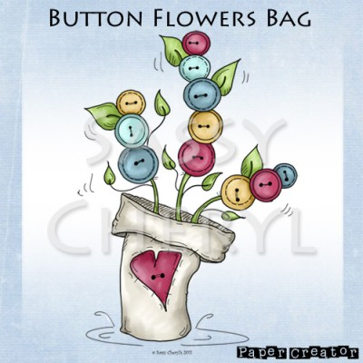 Button Flowers Bag