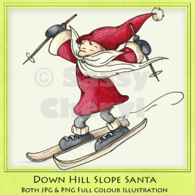 Down Hill Slop Santa