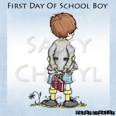 First Day Of School Boy