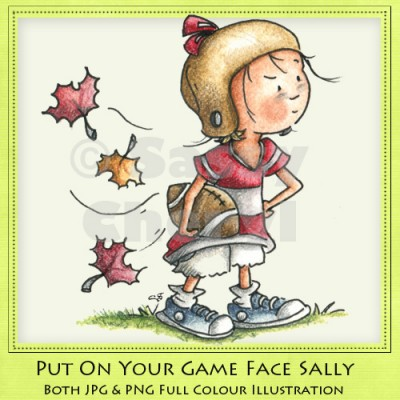 Put On Your Game Face Sally