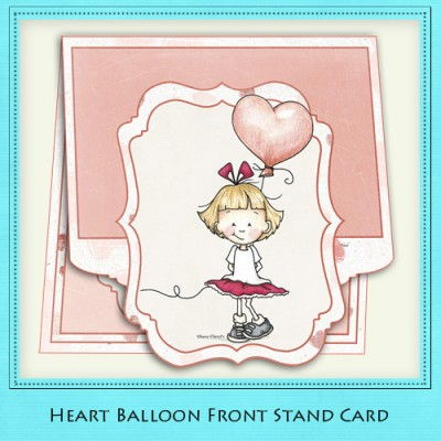 Heart Balloon - Front Stand Card