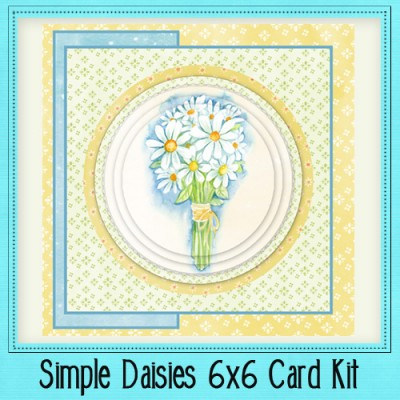 Simple Daisies 6x6 Card Kit