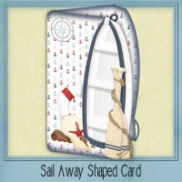 Sail Away Shaped Card Kit