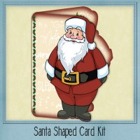 Santa Shaped Card Kit