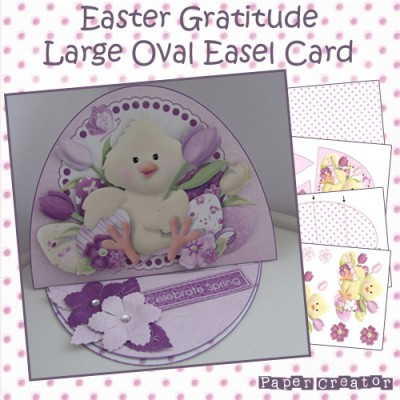Easter Gratitude - Large Oval Easel Card Kit