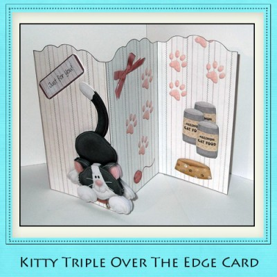 Kitty - Triple Over The Edge Card