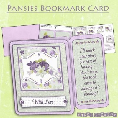 Pansies - Bookmark Card Kit