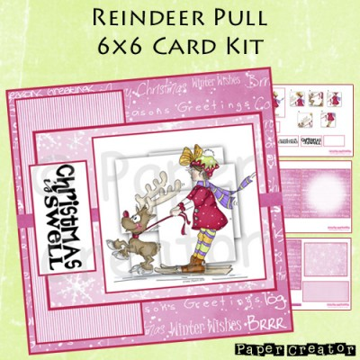 Reindeer Pull - 6x6 Card Kit