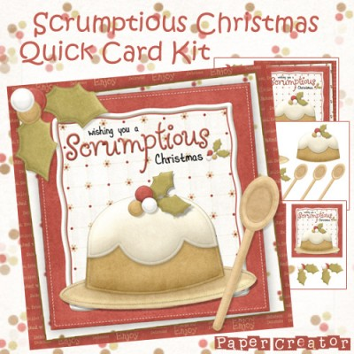 Scrumptious Christmas - Quick Card Front
