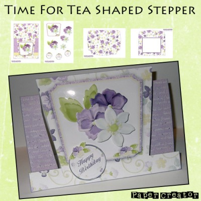 Time For Tea - Shaped Easel Card Kit