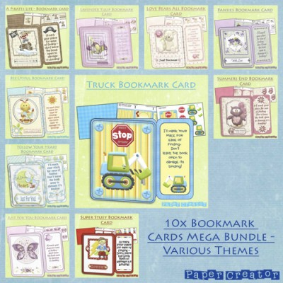 Book Mark Cards - Mega Bundle