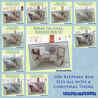 Christmas Keepsake Boxes - Mega Bundle