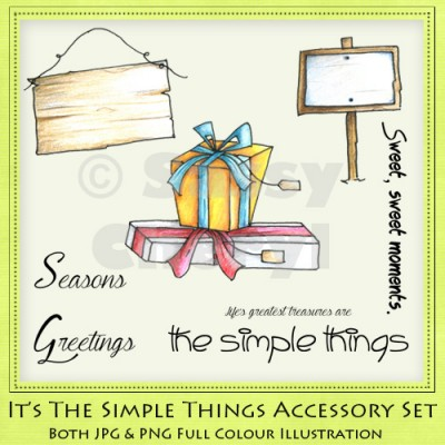 It's The Simple Things Accessory Set
